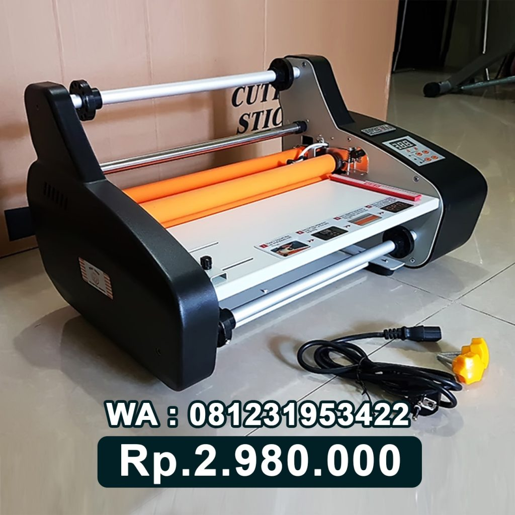 SUPPLIER MESIN LAMINATING ROLL FM 3510 HITAM ALAT LAMINASI KERTAS Selong