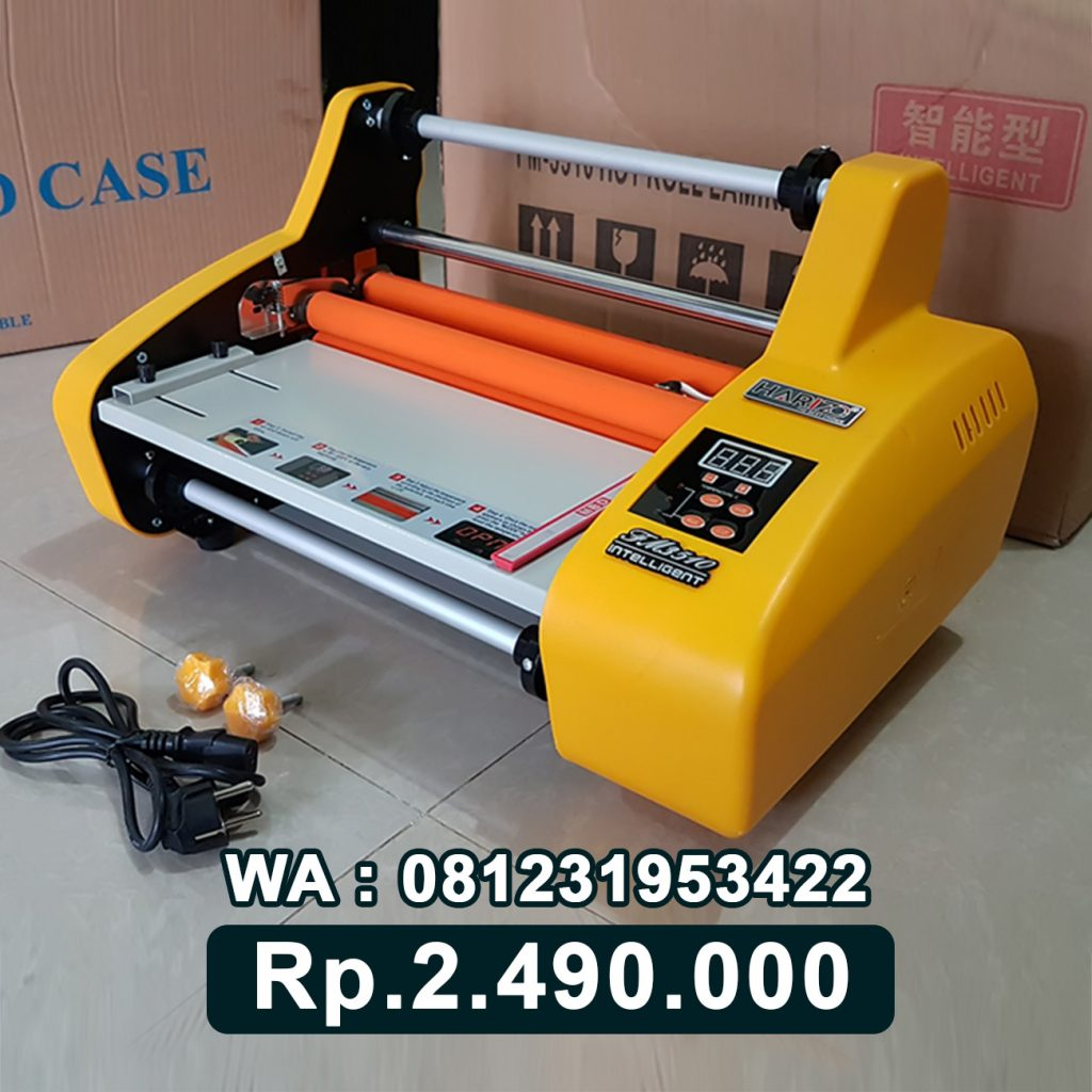 SUPPLIER MESIN LAMINATING ROLL FM 3510 KUNING ALAT LAMINASI KERTAS Selong