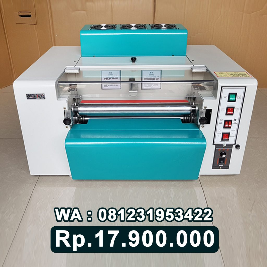 SUPPLIER MESIN LAMINATING ROLL UV VARNISH ALAT LAMINASI KERTAS UV SPOT Kalimantan Selatan Kalsel