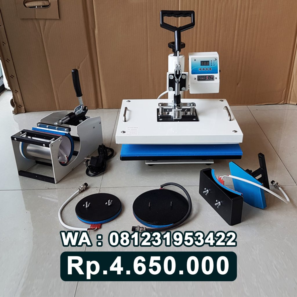 SUPPLIER MESIN PRESS KAOS DIGITAL 5 in 1 PUTIH Palu