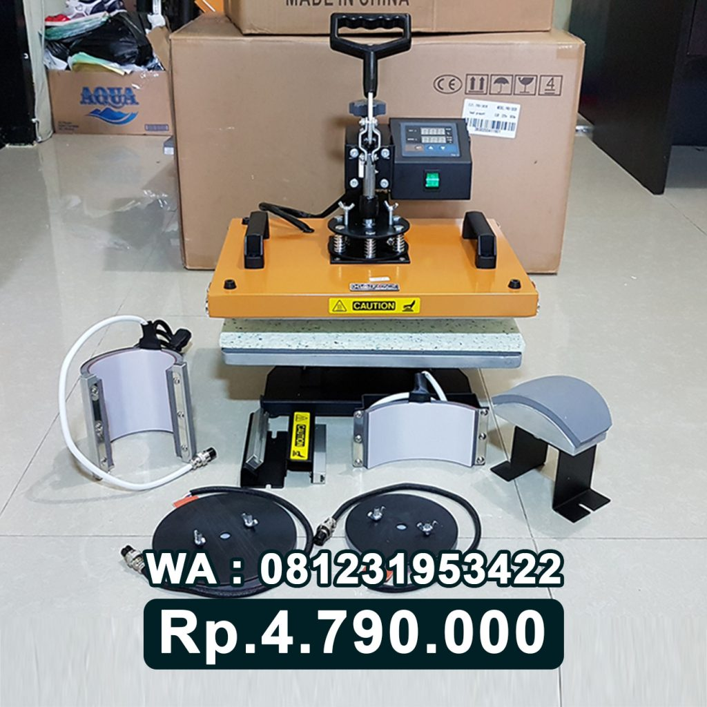SUPPLIER MESIN PRESS KAOS DIGITAL 6 in 1 KUNING Tamiang Layang