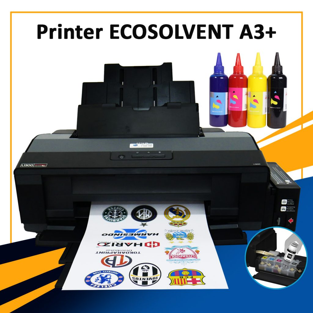 SUPPLIER PRINTER ECOSOLVENT A3 EPSON UNTUK CETAK PU PRINTABLE Sampang
